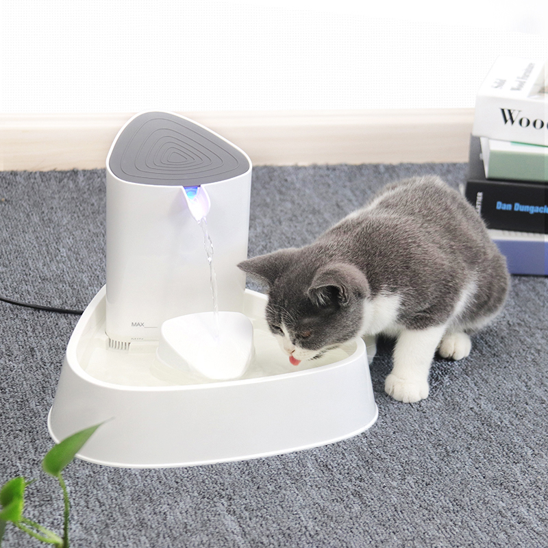 Dog Cat Drinking Fountain with Multi-stage Filtration System
